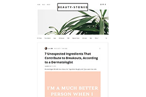 Screenshot of '7 Unexpected Ingredients That Contribute to Breakouts' article