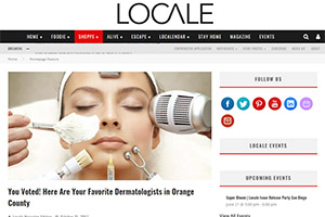 Screenshot of 'Here Are Your Favorite Dermatologists in Orange County' article