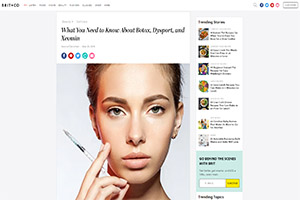 Screenshot of 'What You Need to Know About Botox, Dysport, and Xeomin' article